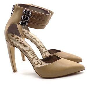 Sam Edelman Claire Pumps Ankle Cuff Spikes 9M Beig